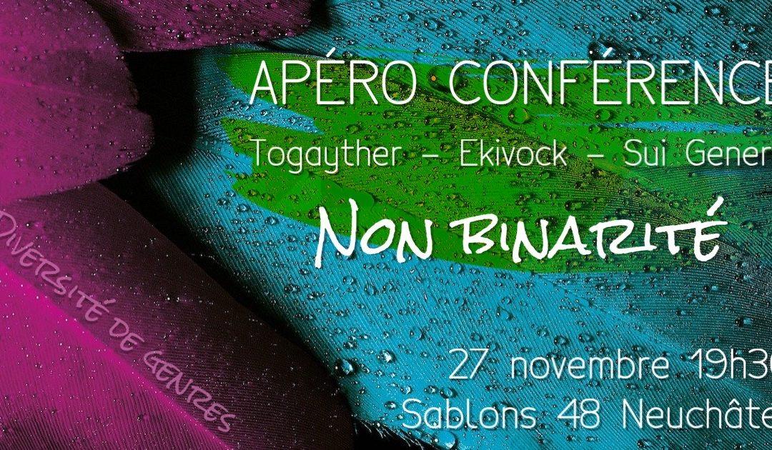 Annulé : Apéro conférence : Au delà de la binarité de genre