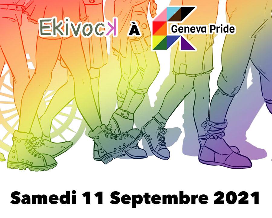 Samedi 11 septembre Ekivock à la Geveva Pride